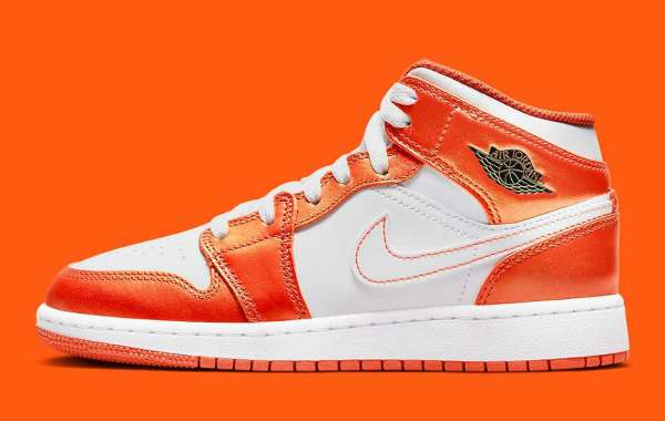 "Air Jordan 1 Mid GS is about to launch ""Metal Orange"""